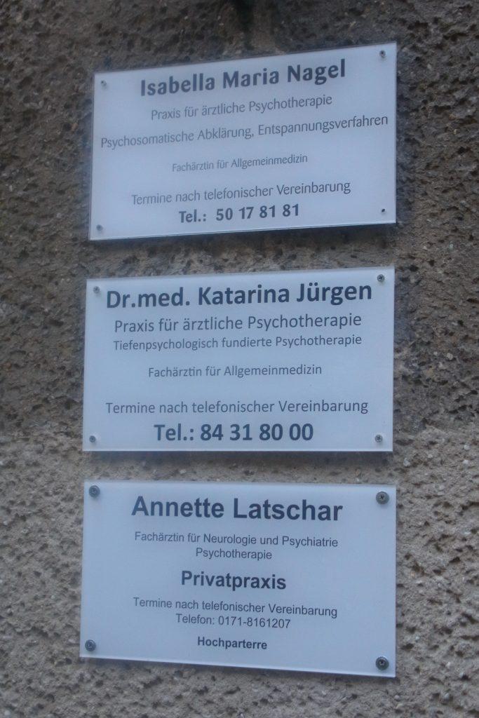 ドイツの医者の看板
